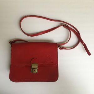 Vera pelle red crossbody small purse